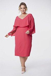 Vestido Midi Plus Size Cosh Pink