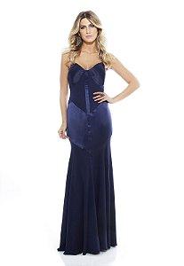 Vestido Longo Dolps Azul Marinho