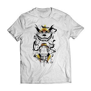 Camiseta Masculina Naruto e Kurama