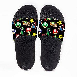 Chinelo Slide Masculino Super Mario Use Nerd