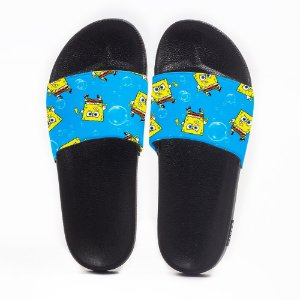 Chinelo Slide Masculino Bob Esponja Fundo do Mar Use Nerd