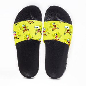 Chinelo Slide Masculino Bob Esponja Yellow Use Nerd