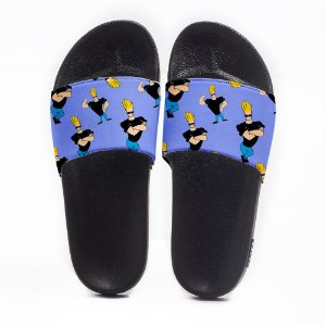 Chinelo Slide Masculino Johnny Bravo Use Nerd