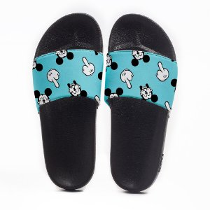 Chinelo Slide Masculino Mickey Dedos Use Nerd