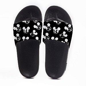 Chinelo Slide Masculino Mickey Mouse Black Use Nerd