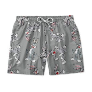 Short De Praia Estampado Pernalonga Use Nerd