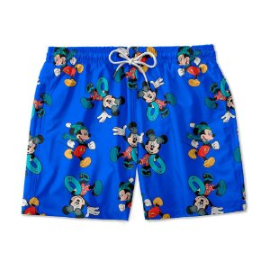 Short De Praia Estampado Mickey Azul Use Nerd