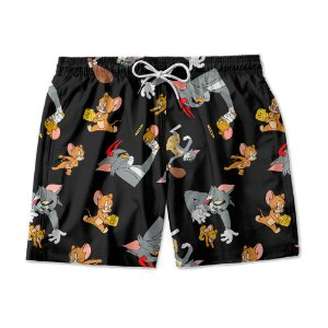 Short De Praia Estampado Tom e Jerry Use Nerd
