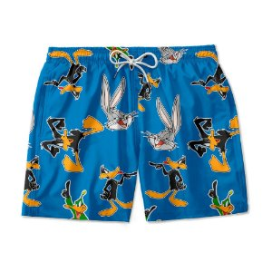 Short De Praia Estampado Patolino e Pernalonga Use Nerd