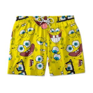 Short De Praia Estampado Bob Esponja Use Nerd