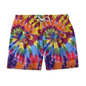 Short De Praia Estampado TYE DIE Colores Reggae Use Nerd