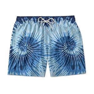 Short De Praia Estampado TYE DIE Azul Coral Use Nerd