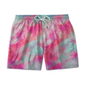Short De Praia Estampado TIE DYE Red Merge Use Nerd