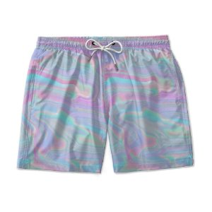 Short De Praia Estampado TIE DYE Colors Purple Use Nerd