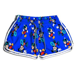 Short De Praia Estampado Feminino Mickey Use Nerd