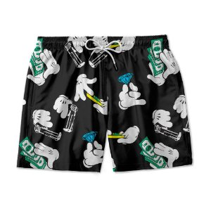 Short Praia Estampado Mickey Money Use Nerd