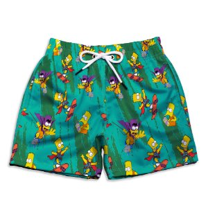 Short Praia Estampado Bart Simpsons Use Nerd