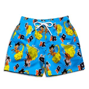 Short Praia Estampado Infantil DBZ Use Nerd