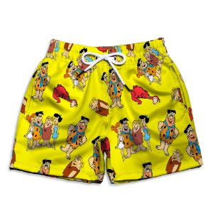 Short Praia Estampado Infantil Flinstons Use Nerd