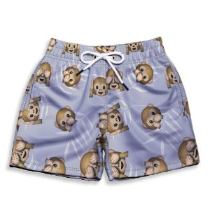 Short Praia Estampado Infantil Monkey Use Nerd