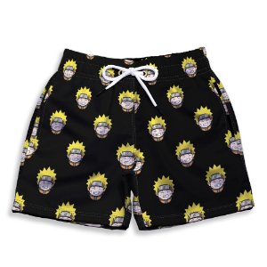 Short Praia Estampado Infantil Naruto Use Nerd