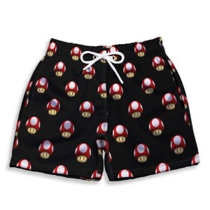 Short Praia Estampado Infantil Mario World Use Nerd