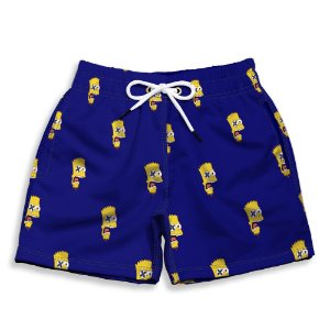 Short Praia Estampado Infantil Bart Simpsons Use Nerd