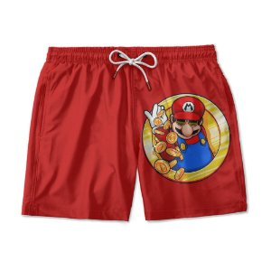 Short Praia Estampado Mario World Use Nerd