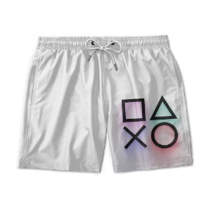Short Praia Estampado Play Stations Use Nerd