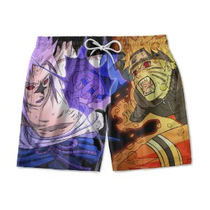 Short Praia Estampado Naruto Sasuke Use Nerd