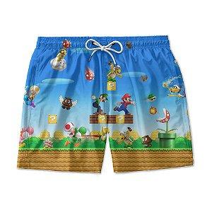 Short Praia Estampado Super Mario Bross Use Nerd