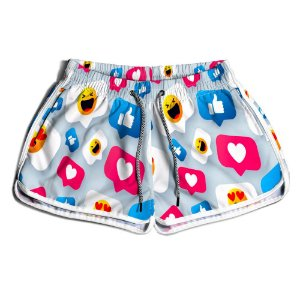 Short Praia Estampado Feminino Like Use Nerd