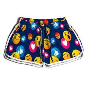 Short Praia Estampado Feminino Emotions Use Nerd