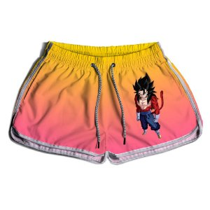 Short Praia Estampado Feminino Goku Use Nerd