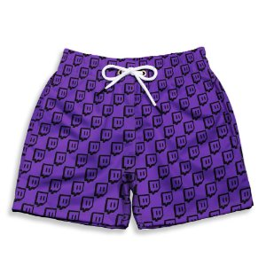 Short Praia Estampado Infantil Twitch Use Nerd