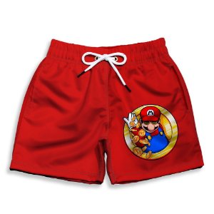 Short Praia Estampado Infantil Super Mário World Use Nerd