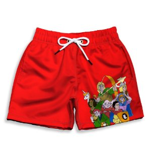 DUPLICADO - Short Praia Estampado Infantil Super Mário World Use Nerd