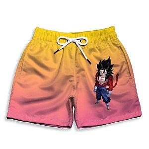 Short Praia Estampado Infantil Goku Use Nerd