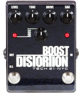 Pedal Tech 21 Analog Distortion Clean Boost Metallic Series