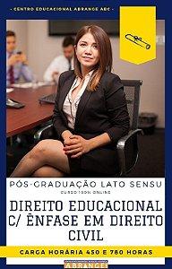 Direito Educacional c/ Ênfase em Direito Civil - 450 / 780 horas