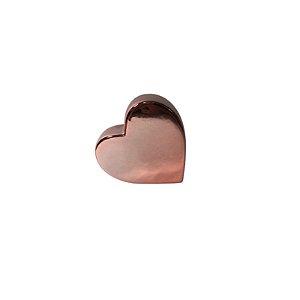 Escultura Coração de Cerâmica Rosê GDR0504