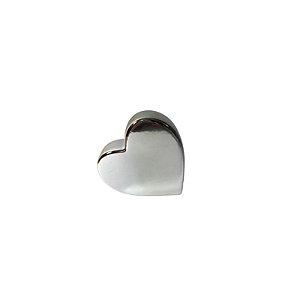 Escultura Coração de Cerâmica Prata GDR0504