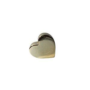 Escultura Coração de Cerâmica Dourado GDR0504
