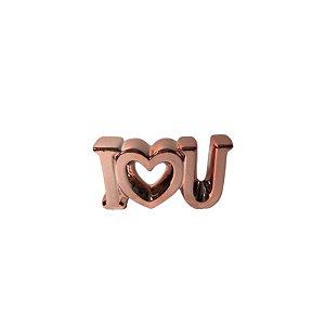 Escultura I♡U de Cerâmica Rosê GDR0448