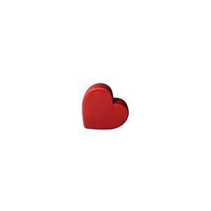 Escultura Coração de Cerâmica Vermelho GDR0500