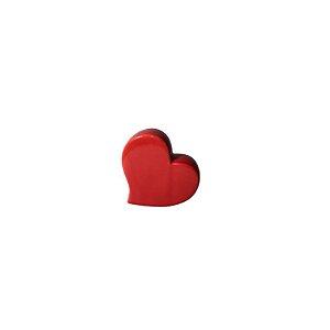 Escultura Coração de Cerâmica Vermelho GDR0501