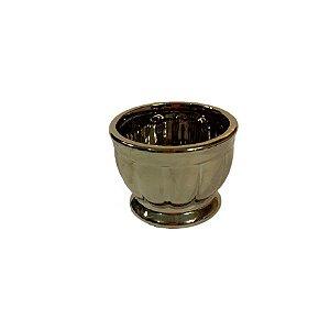 Vaso Ceramica Metalizado