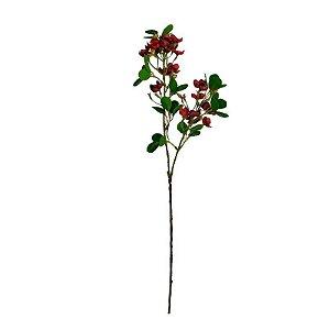 Galho MDE Folhas com Flores EO-0017