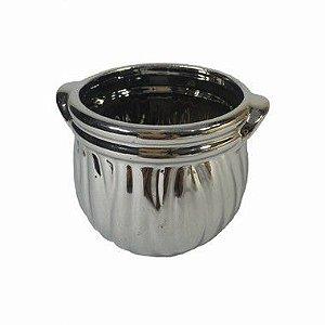 Vaso Metalizado Stela Prata LV-0033