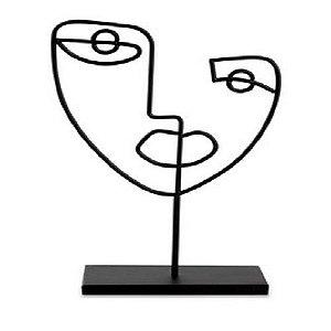 Escultura Preta em Metal 12466